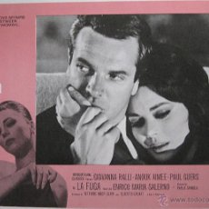 Cine: LA FUGA LOBBY CARD ORIGINAL ESTADOS UNIDOS ENRICO MARIA SALERNO PAOLO SPINOLA. Lote 47692104