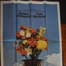 Cine: VUELVE A MI LADO (1970) CON BARBRA STREISAND. CARTEL 3SHEET ORIGINAL USA 105 X 206 CM. Lote 47799651