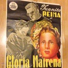 Cine: PÓSTER O CARTEL ORIGINAL DE GLORIA MAIRENA.JUANITA REINA.FIRMADO POR PERIS ARAGÓ. Lote 41054271