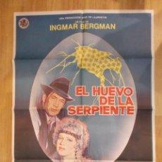 Cine: EL HUEVO Y LA SERPIENTE-INGMAR BERGMAN. Lote 48103184