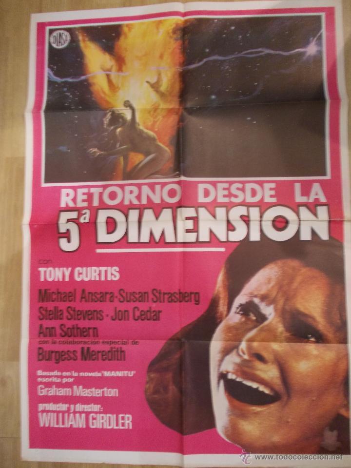 RETORNO DESDE LA 5ª DIMENSION-CARTEL ORIGINAL DE CINE (Cine - Posters y Carteles - Ciencia Ficción)