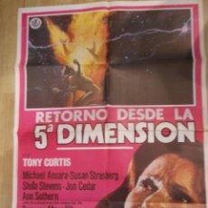 Cine: RETORNO DESDE LA 5ª DIMENSION-CARTEL ORIGINAL DE CINE. Lote 48113285
