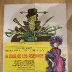 Cine: EL CLUB DE LOS ASESINOS-CARTEL ORIGINAL DE CINE. Lote 48115390