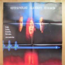 Cine: CARTEL CINE, LINEA MORTAL, KIEFER SUTHERLAND, JULIA ROBERTS, 1990, C376. Lote 48138617