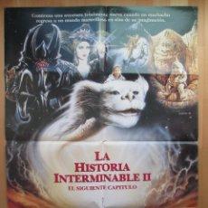 Cine: CARTEL CINE, LA HISTORIA INTERMINABLE II, EL SIGUIENTE CAPITULO, WARNER BROS, 1990, C377. Lote 48138676