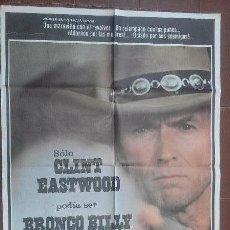 Cine: CARTEL DE CINE - MOVIE POSTER - BRONCO BILLY . CLINT EASTWOOD. Lote 48157896