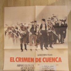 Cine: EL CRIMEN DE CUENCA-CARTEL ORIGINAL DE CINE. Lote 48188762