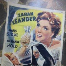 Cine: ZARAH LEANDER CARTEL BELGA DE LA PELICULA AVE MARIA 34 X 46 CTMS.. Lote 48224414