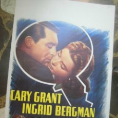 Cine: INGRID BERGMAN CARTEL BELGA DE LA PELICULA NOTORIUS 34 X 54 CTMS.. Lote 48224585