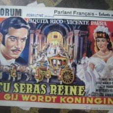 Cine: PAQUITA RICO Y VICENTE PARRA CARTEL BELGA DE LA PELICULA DONDE VAS ALFONSO XII 34 X 54 CTMS.. Lote 48224837