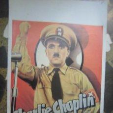 Cine: CHARLES CHPLIN CARTEL BELGA DE LA PELICULA EL GRAN DICTADOR 34 X 54 CTMS.. Lote 48224932