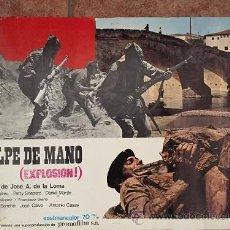 Cine: CARTEL DE GOLPE DE MANO, RODADA EN BALLOBAR (HUESCA) 50 XC 40 CM. Lote 48270397