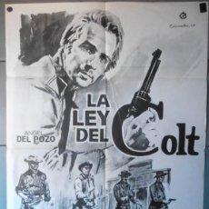 Cine: (12723)LA LEY DEL COLT, CARTEL DE CINE ORIGINAL 70X100 APROX,JANO,CONSERVACION:VER FOTO . Lote 48431902