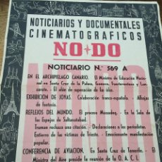 Cine: CARTEL DEL NO - DO - NOTICIARIO Nº 569 A - ARCHIPIELAGO CANARIO - AVIACION - PARTIDO REAL MADRID. Lote 48438205