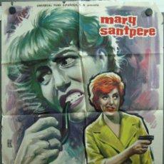 Cine: VT00 DETECTIVE CON FALDAS MARY SANTPERE POSTER ORIGINAL 70X100 ESTRENO. Lote 48499747
