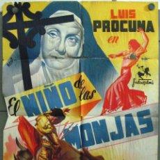 Cine: VT07 EL NIÑO DE LAS MONJAS LUIS PROCUNA TOROS POSTER ORIGINAL 70X100 ESTRENO LITOGRAFIA. Lote 48500963