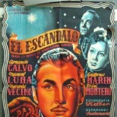 Cine: VT72 EL ESCANDALO ARMANDO CALVO MERCEDES VECINO POSTER ORIGINAL ESPAÑOL 70X100 LITOGRAFIA. Lote 48517799
