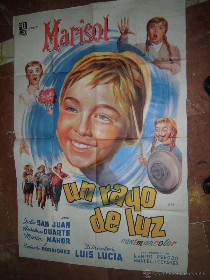 MARISOL CARTEL DE LA PELICULA UN RAYO DE LUZ ECHO EN ARGENTINA 72 X 109 CTMS. (Cine - Posters y Carteles - Clasico Español)