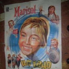 Cine: MARISOL CARTEL DE LA PELICULA UN RAYO DE LUZ ECHO EN ARGENTINA 72 X 109 CTMS.. Lote 48526148