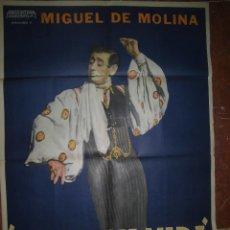 Cine: MIGUEL DE MOLINA CARTEL DE LA PELICULA ESTA ES MI VIDA ECHO EN ARGENTINA 74 X 110 CTMS.. Lote 48526193