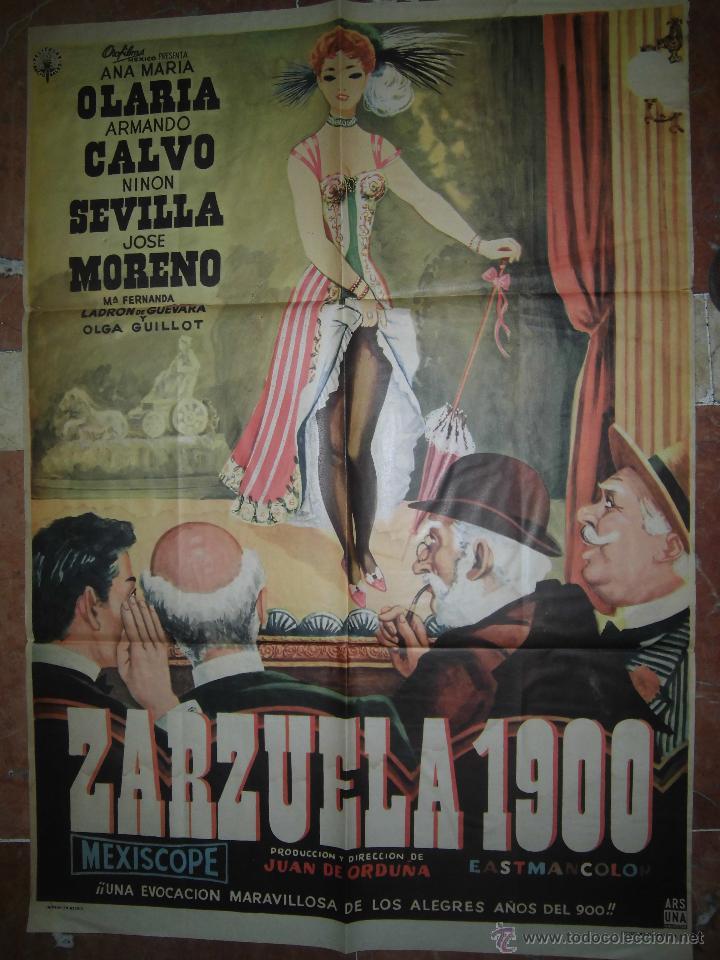 ANA MARIA OLARIA CARTEL DE LA PELICULA ZARZUELA 1900 ECHO EN MEXICO 67 X 94 ARMANDO CALVO... (Cine - Posters y Carteles - Clasico Español)