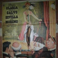 Cine: ANA MARIA OLARIA CARTEL DE LA PELICULA ZARZUELA 1900 ECHO EN MEXICO 67 X 94 ARMANDO CALVO... . Lote 48526310