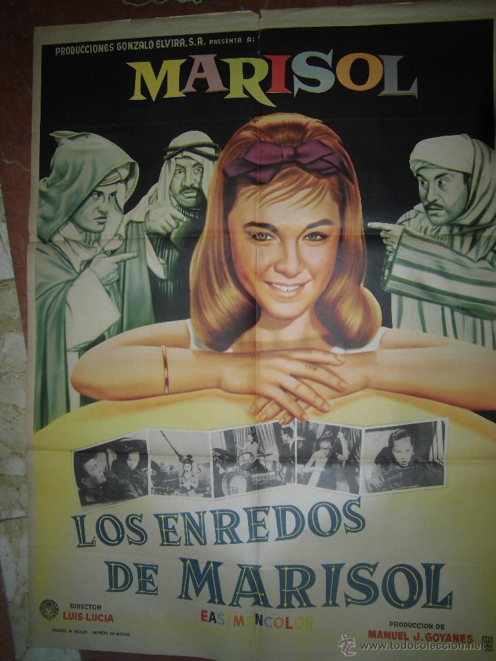 MARIOL CARTEL DE LA PELICULA LOS ENREDOS DE MARISOL (TOMBOLA) ECHO EN MEXICO 67 X 94 (Cine - Posters y Carteles - Clasico Español)