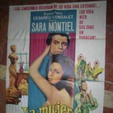 Cine: SARA MONTIEL CARTEL DE LA PELICULA LA MUJER PERDIDA ECHO EN ARGENTINA 66 X 99. Lote 48526423