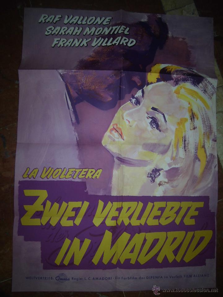 SARA MONTIEL CARTEL DE LA PELICULA LA VIOLETERA ECHO EN ALEMANIA 59 X 84 (Cine - Posters y Carteles - Clasico Español)