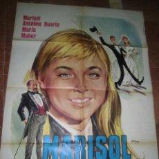 Cine: MARISOL CARTEL DE LA PELICULA UN RAYO DE LUZ ECHO EN ITALIA 100 X 140. Lote 48526570