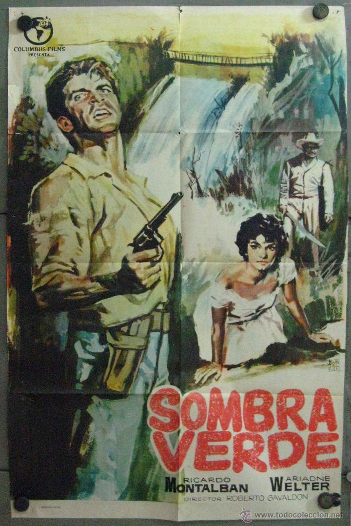 VT95 SOMBRA VERDE RICARDO MONTALBAN POSTER ORIGINAL 70X100 ESTRENO (Cine - Posters y Carteles - Aventura)