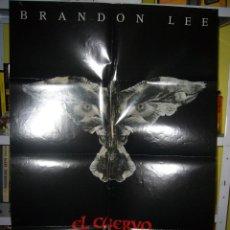 Cine: EL CUERVO BRANDON LEE CULT POSTER ORIGINAL 70X100 AVANCE ESTRENO DIFICIL. Lote 54734517