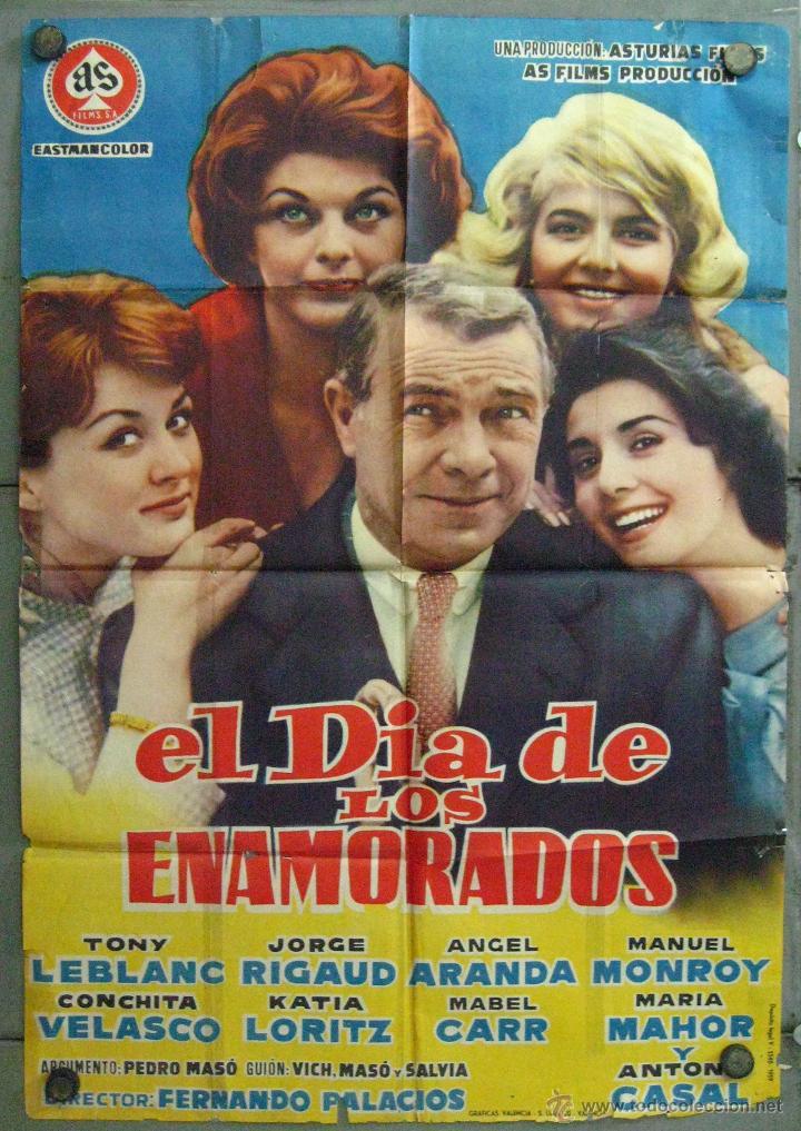 VU19 EL DIA DE LOS ENAMORADOS CONCHA VELASCO MARIA MAHOR POSTER ORIGINAL 70X100 ESTRENO (Cine - Posters y Carteles - Clasico Español)