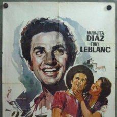 Cine: VU63 EL PESCADOR DE COPLAS ANTONIO MOLINA TONY LEBLANC MARUJITA DIAZ POSTER ORIGINAL 70X100. Lote 48642468