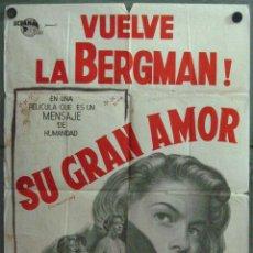 Cine: YX92D EUROPA 1951 INGRID BERGMAN ROBERTO ROSSELLINI POSTER ORIGINAL ARGENTINO 75X110 LITOGRAFIA. Lote 48646896
