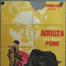 Cine: VU61 MI REINO POR UN TORERO CARLOS ARRUZA TOROS BALLUS NAVARRO POSTER ORIG 70X100 ESTRENO LITOGRAFIA. Lote 48649216