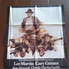 Cine: CARTEL DE CINE - MOVIE POSTER - TRES FORAJIDOS Y UN PISTOLERO- 1976. UNIVERSAL FILMS ESPAÑOLA,S.A.. Lote 48647740