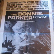 Cine: LA TIGRESA DE TEXAS CARTEL ORIGINAL ESTADOS UNIDOS REEEDICIÓN 1968 THE BONNIE PARKER STORY CLYDE. Lote 48701304