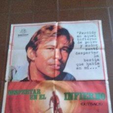 Cine: CARTEL DE CINE - MOVIE POSTER - DESPERTAR EN EL INFIERNO- AÑO 1972. Lote 48695325