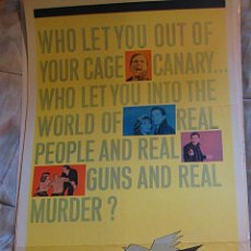 Cine: EL CANARIO AMARILLO CARTEL ORIGINAL ESTADOS UNIDOS THE YELLOW CANARY PAT BOONE BARBARA EDEN. Lote 48765570