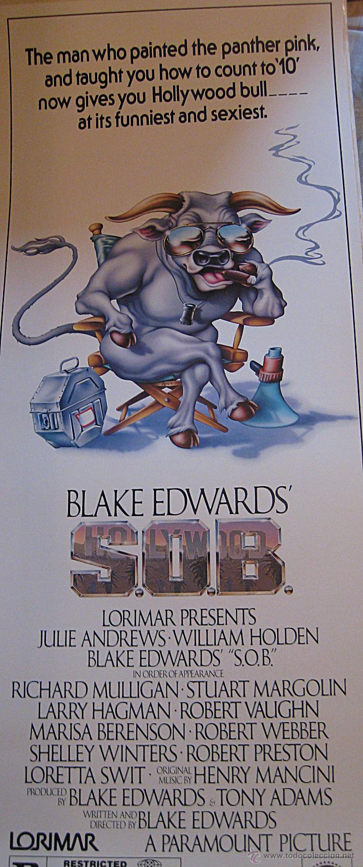 S.O.B. SOIS HONRADOS BANDIDOS CARTEL ORIGINAL ESTADOS UNIDOS JULIE ANDREWS BLAKE EDWARDS (Cine - Posters y Carteles - Comedia)