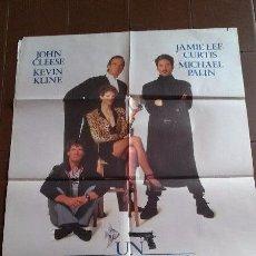 Cine: CARTEL DE CINE - MOVIE POSTER - UN PEZ LLAMADO WANDA - AÑO 1988. Lote 48778729