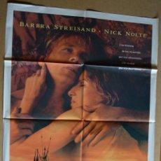 Cine: EL PRÍNCIPE DE LAS MAREAS NICK NOLTE BARBRA STREISAND CARTEL DE CINE ORIGINAL . Lote 48805074