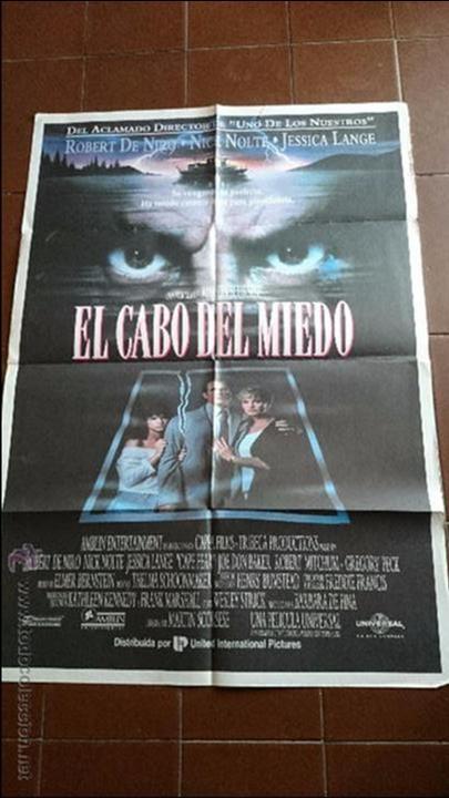 CARTEL DE CINE - MOVIE PÓSTER - EL CABO DEL MIEDO - AÑO 1991 (Cine - Posters y Carteles - Terror)