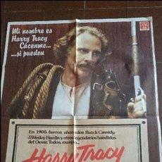 Cine: CARTEL DE CINE - MOVIE PÓSTER - HARRY TRACY, EL ÚLTIMO FORAJIDO - AÑO 1982. Lote 48831834