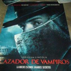 Cine: ABRAHAM LINCOLN CAZADOR DE VAMPIROS POSTER ORIGINAL GIGANTE 175X120 CM. Lote 48940437
