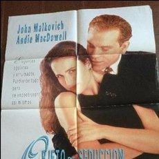 Cine: CARTEL DE CINE - MOVIE PÓSTER - OBJETO DE SEDUCCIÓN - CON JOHN MALKOVICH. Lote 48943679