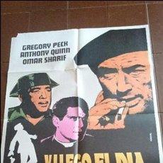 Cine: CARTEL DE CINE - MOVIE PÓSTER - Y LLEGO EL DÍA DE LA VENGANZA - CON GREGORY PECK . Lote 48955074