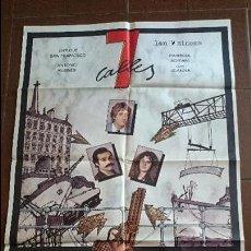 Cine: CARTEL DE CINE - MOVIE PÓSTER - 7 CALLES - AÑO 1981 . Lote 48955123