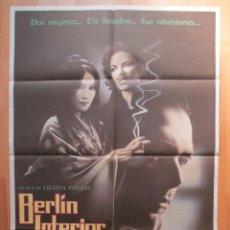 Cine: CARTEL CINE, BERLIN INTERIOR, LILIANA CAVANI, 1985, C460. Lote 48983241